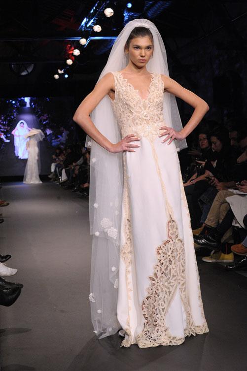 אין הפתעות או חידושים. תצוגת שמלות הכלה של יאיר ג'רמון (צילום: ערן סלם)