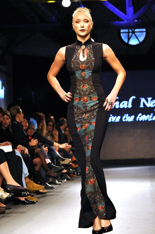אופנה שמסתכלת אחורה ולא קדימה. תצוגת האופנה של מיכל נגרין (צילום: דודו אזולאי)