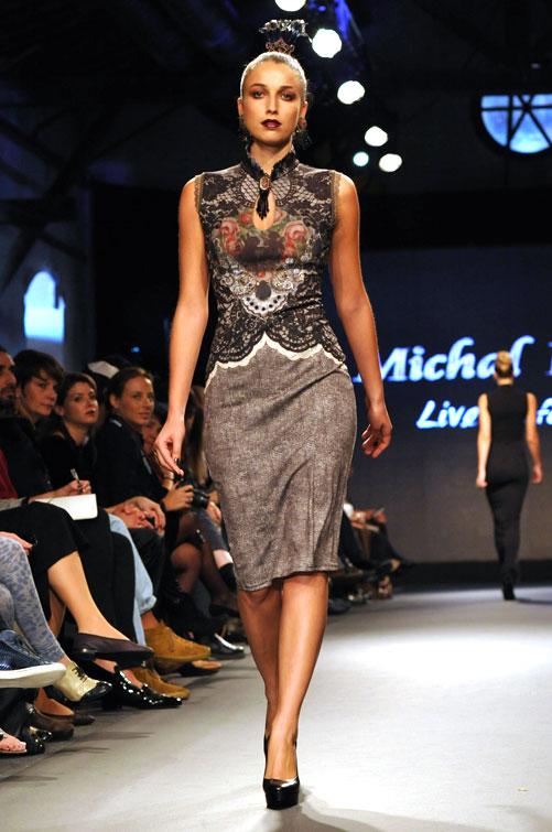 תצוגת האופנה של מיכל נגרין. אסתטיקה עקבית (צילום: דודו אזולאי)