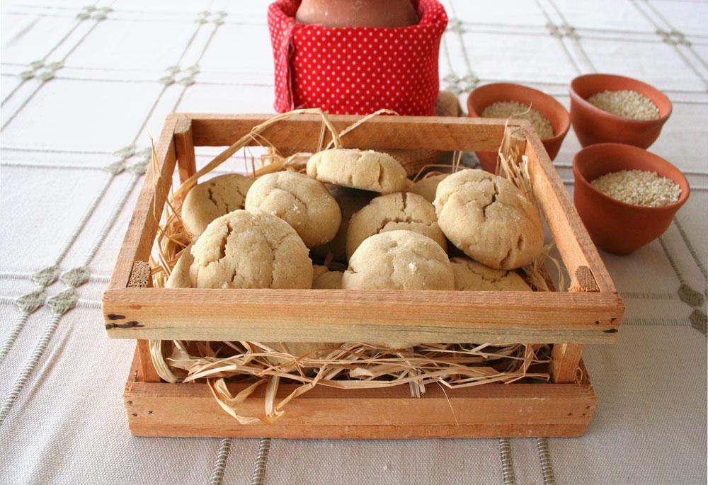 עוגיות טחינה (צילום: אסנת לסטר)