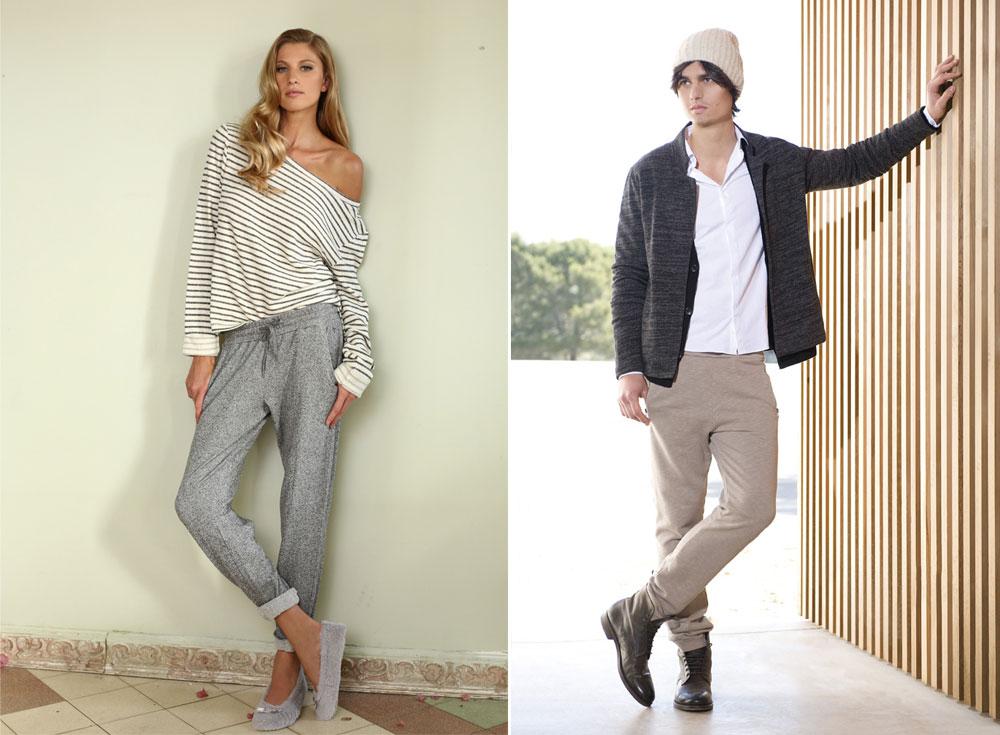 בגדים נוחים, נעימים, אבל עדיין אופנתיים וסקסיים. קולקציות החורף של אמריקן וינטג' (מימין) ואינטימה (צילום: איל נבו)