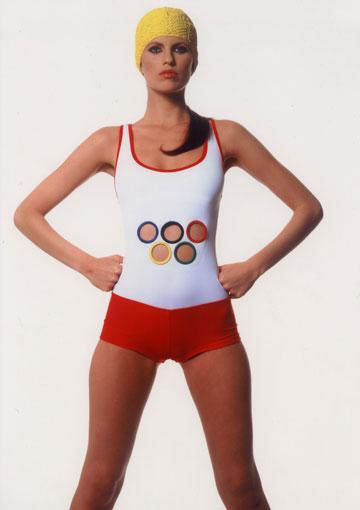 בגד ים שעיצב אוברזון לאולימפיאדת 2008 (באדיבות בוטיק אוברזון)