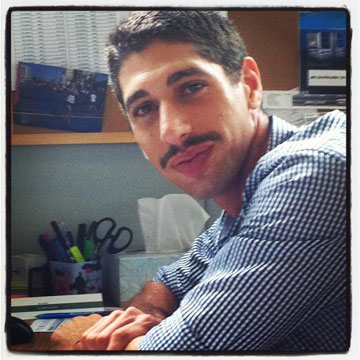 גבר שמנסה לעשות משהו גדול, טל שמואלי (צילום: פייסבוק Movember Israel)