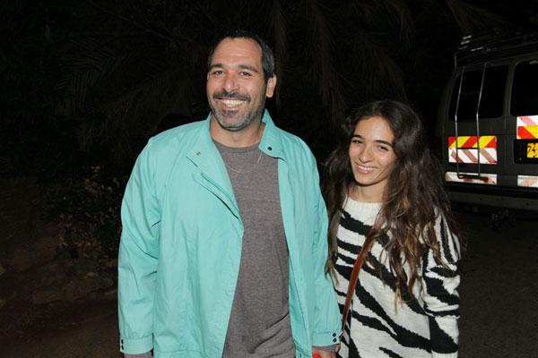 רותם זיסמן עם הבעל (צילום: רפי דלויה)