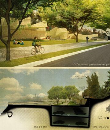 הזוכה במסלול הסטודנטים (באדיבות עמותת האדריכלים וההסתדרות הציונית העולמית)