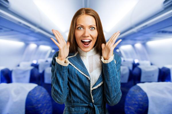 אישה? טייסת?! מהר, שמישהו יוריד אותי מהמטוס (צילום: shutterstock)