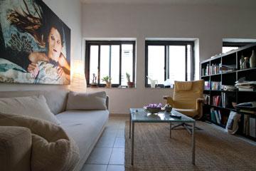 דירת סטודיו בלב תל אביב. 3,000 שקל ל-37 מ''ר (צילום: דור נבו)