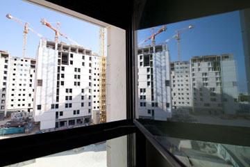 מעונות ''ברושים'', מבט מבפנים (צילום: דור נבו)