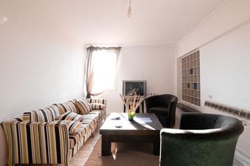 סלון בדירת שותפים ברמת אביב (צילום: דור נבו)