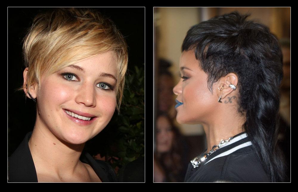 הטרור שריהאנה העבירה את השיער נותן את אותותיו, גם ג'ניפר לורנס נאלצה להיפרד מהשיער הגולש אחרי שנהרס בגלל יותר מדי צבעים וכימיקלים (צילום: gettyimages)