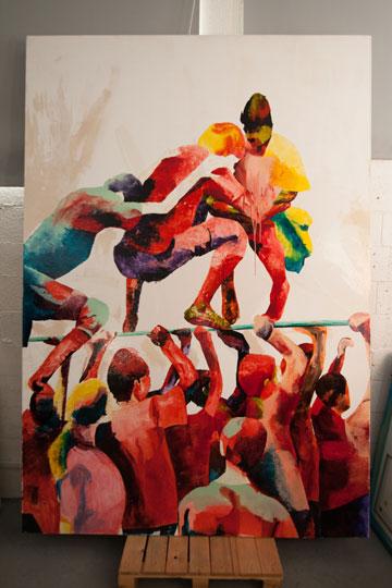 עבודה של דינה לוי (צילום: דור נבו)