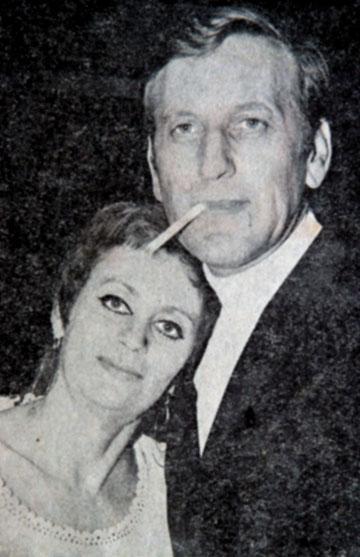 יעקב רכטר עם אשתו, השחקנית חנה מרון (רפרודוקציה: טלי שני)