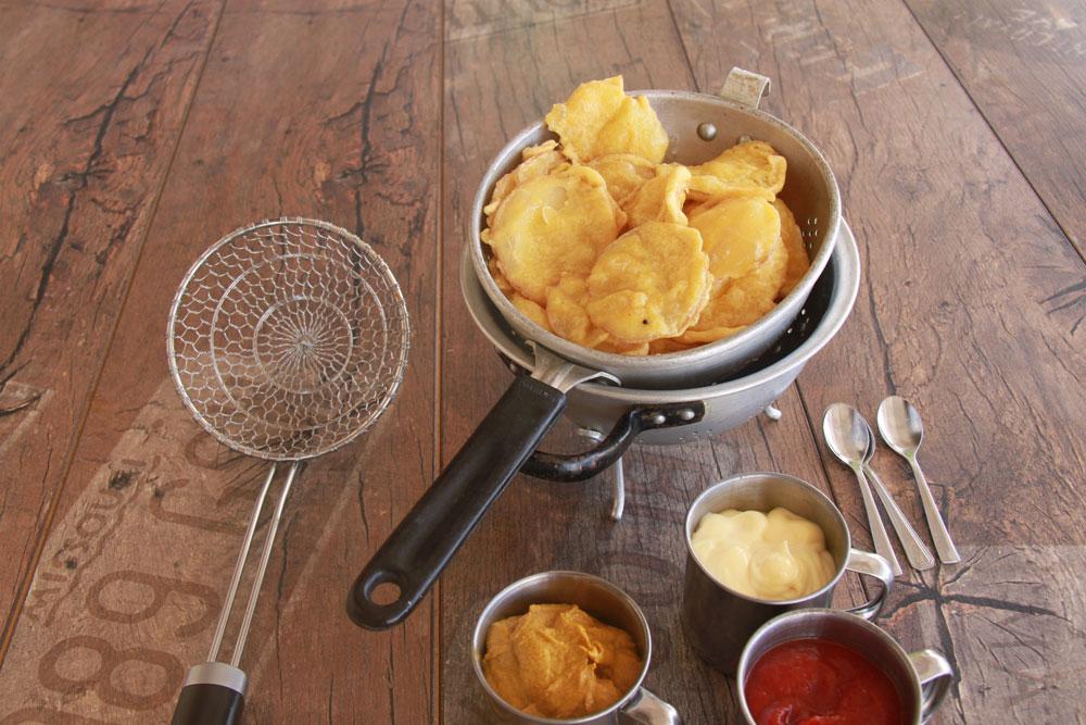 תפוחי אדמה מטוגנים ברביכה (צילום: אסנת לסטר)