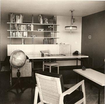 חדר העבודה (מתוך ארכיון דורה גד, החוג לעיצוב פנים, המסלול האקדמי המכללה למינהל)