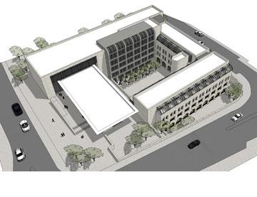 הדמיית המלון (הדמיה:  י. מולכו אדריכלים בע''מ)