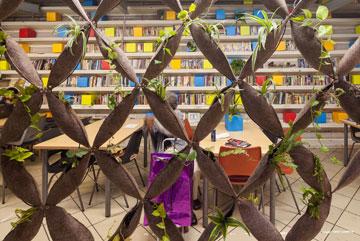 הספרייה הקטנה בקומה 7 (צילום: טל ניסים)