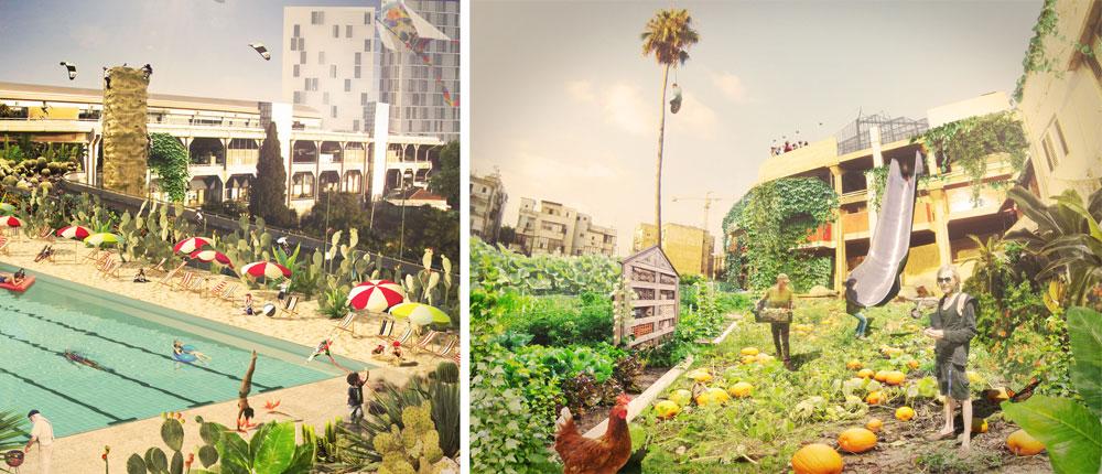 האם התחנה המרכזית החדשה עשויה להפוך לאסם ירקות של ממש, שלא לומר פארק עירוני כמו ה''היי-ליין'' במנהטן? הפעילים חדורי אמונה שכן (באדיבות קולקטיב אניה)