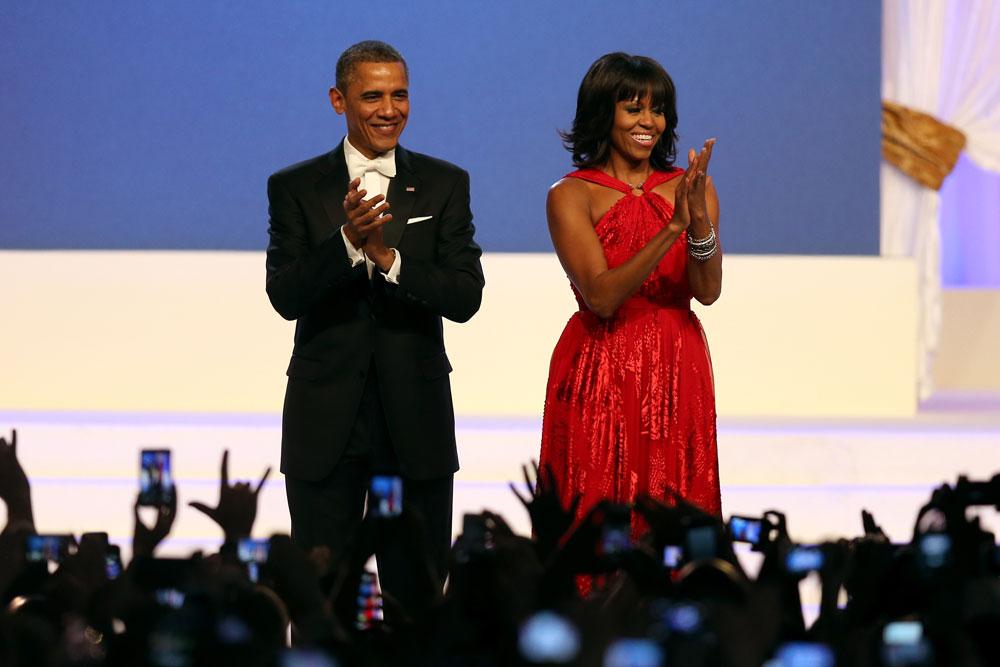מישל אובמה. תומכת בתעשיית האופנה האמריקאית (צילום: gettyimages)