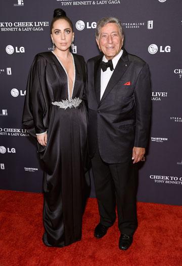 ליידי גאגא. לובשת שמלות של אלון ליבנה באירועים מתוקשרים (צילום: gettyimages)