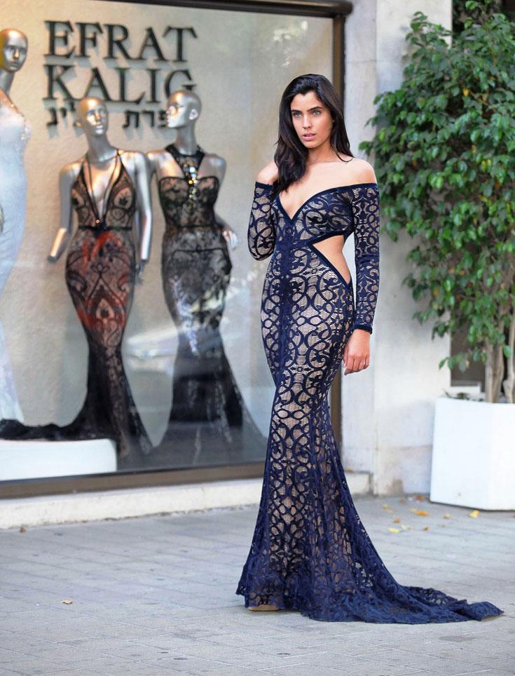 שמלת ערב (צילום: שוקה כהן)