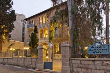 שימור של בית אבן במושבה היוונית בירושלים. ''ארקדיה במושבה'' (צילום: דויד רוס)