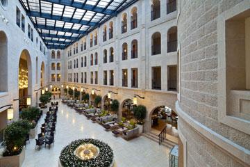 מלון וולדורף אסטוריה. המופתי נתן אישור להקים מלון בשטח של בית קברות (צילום: עמית גרון)