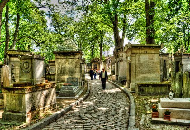 ''פר לשז'', בפריז, בקרבת קברו של ג'ים מוריסון (צילום:Jack Torcello)