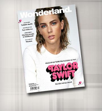 קשה לזהות. טיילור סוויפט על שער המגזין Wonderland