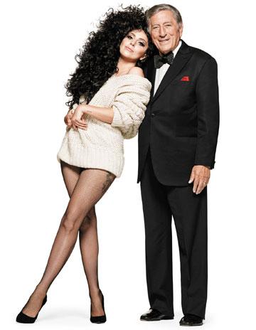 גונבים את ההצגה: ליידי גאגא וטוני בנט בקמפיין של H&M (צילום: ג'ייסון קיבלר)