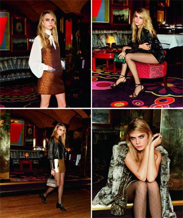 חיבור בין שתי מעצמות אופנה: קארה דלווין בקמפיין של טופשופ