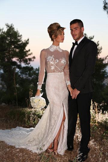 שונית פרג'י ותומר חמד בחתונה (צילום: ששון משה)
