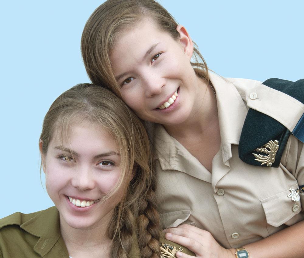"""""""המדים והשירות הצבאי השלימו לנו את התחושה שאנחנו ישראליות אמיתיות"""". זוכרה ופאטימה איסלמבקוב שטיינמן   (צילום: עדי אדר)"""