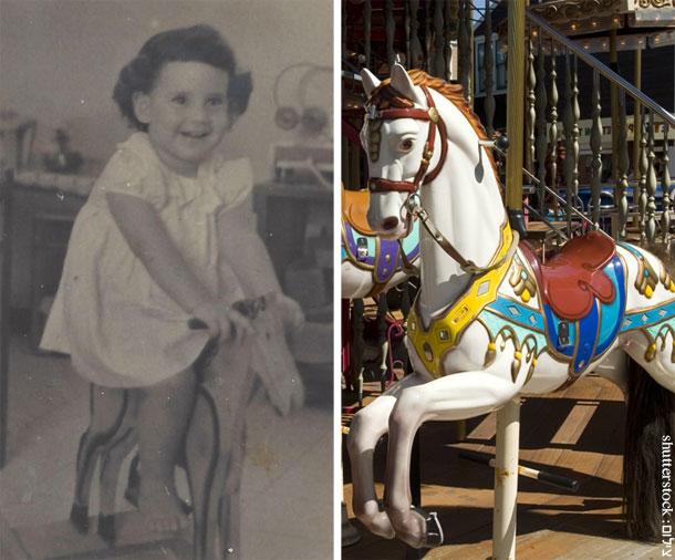 הסוס מהלונה פארק נשאר רק בחלומות. אסנת לסטר על סוס נדנדה