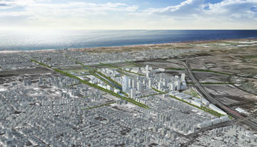 ההצעה שהגיעה למקום השני ממעוף הציבור (תכנון: אדר׳ טיירי מלו, אדר' בתיה סבירסקי מלול ואורנת שפירא אדריכלים)