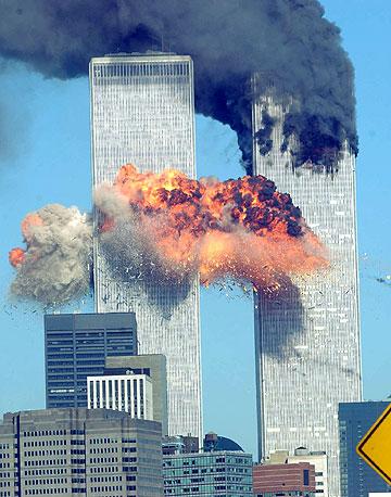 וכך נראו התאומים ב-11 בספטמבר ב-2001 (צילום: gettyimages)