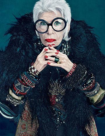 איריס אפפל ל-M.A.C. קולקציית איפור מיוחדת בהשראת סגנונה של אייקון האופנה