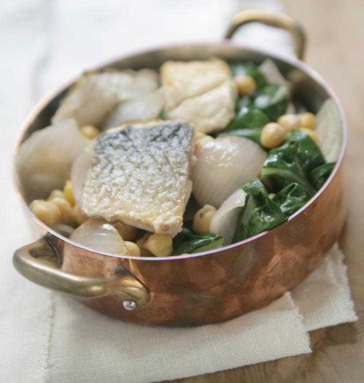 תבשיל בורי, מנגולד וחומוס (צילום: יאיר ברק, סגנון: חמוטל יעקובוביץ')