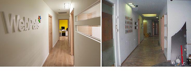 המסדרון, לפני ואחרי (צילום: שי אפשטיין)
