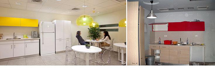 מימין: המטבח הישן, בצבעים שמחרבים את התיאבון. משמאל: צהוב עולה (צילום: שי אפשטיין)