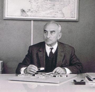 עמנואל ילן, אחד משני אדריכלי המגדל (מתוך אוסף יעל בן משה)