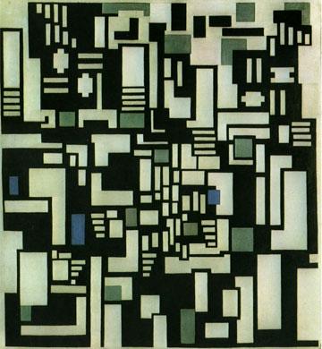 ההשראה לפרויקט: Composition IX opus 18   (ציור: Theo van Doesburg)