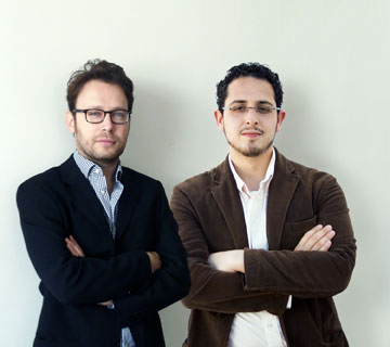 דניאל זרחי ופדרו פנייה, אנשי ''סטודיו pez'' (צילום: StudioPeZ  דניאל זרחי, פדרו פנייה )