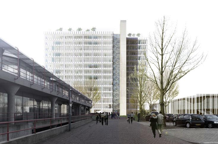ההצעה: להסיר את החסמים ולטפל במבנה תוך שימור השפה האדריכלית, המאפשרת גמישות (הדמיה: StudioPeZ  דניאל זרחי, פדרו פנייה )