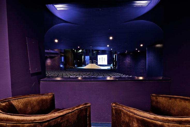 """האולמות, המתוכננים בעזרת יועצים מחו""""ל, פועלים היטב: האקוסטיקה, מראה שונה לכל אולם, זוויות הראייה, גופי התאורה (צילום: איתי סיקולסקי)"""
