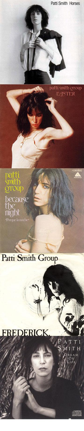 אלבומים של פטי סמית לאורך השנים. משחקת על המראה הגברי בלי לאבד את הפגיעות שלה