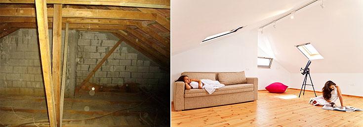 עליית הגג הריקה הפכה לחדר משחקים לנכדים (צילום: טל קרת)