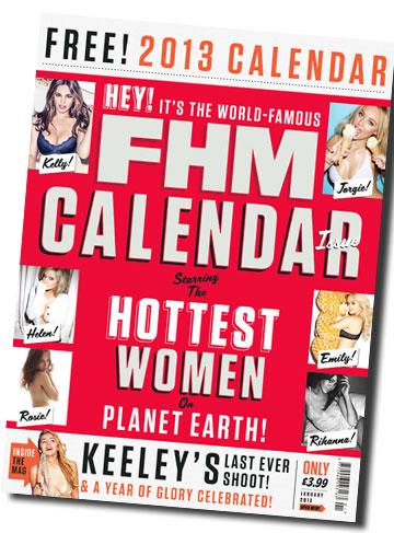 מגזין הגברים FHM מפרסם את לוח השנה שלו: נשים יפות, בגדי ים והמון סקס באוויר