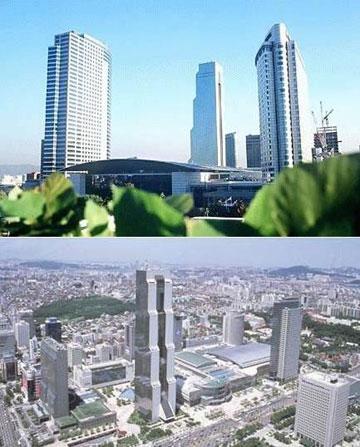 מרכז הסחר העולמי, סיאול. מופיע גם בקליפ (צילום: Somnabot , cc)