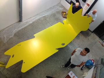 האובייקט שעיצב קוק לגלריה זהזהזה (צילום: זהזהזה גלריה לאדריכלות)