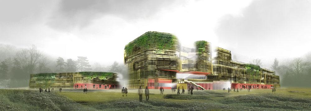 אוניברסיטת וינה, שם בונה המשרד את בניין הפקולטה למשפטים שייחנך בשנה הבאה (באדיבות פיטר קוק)